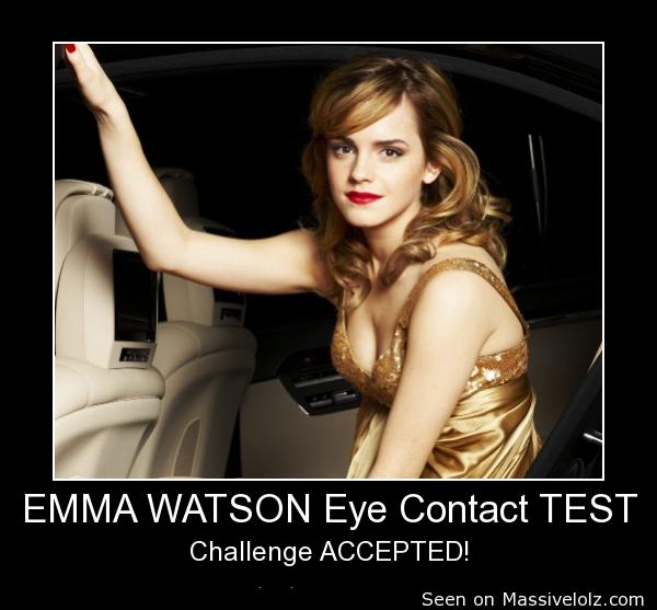 EMMA WATSON Eye Contact TEST