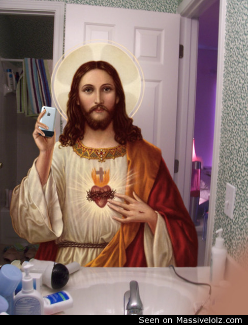 Funny Comments on Selfies Funny Image Jesus Selfie