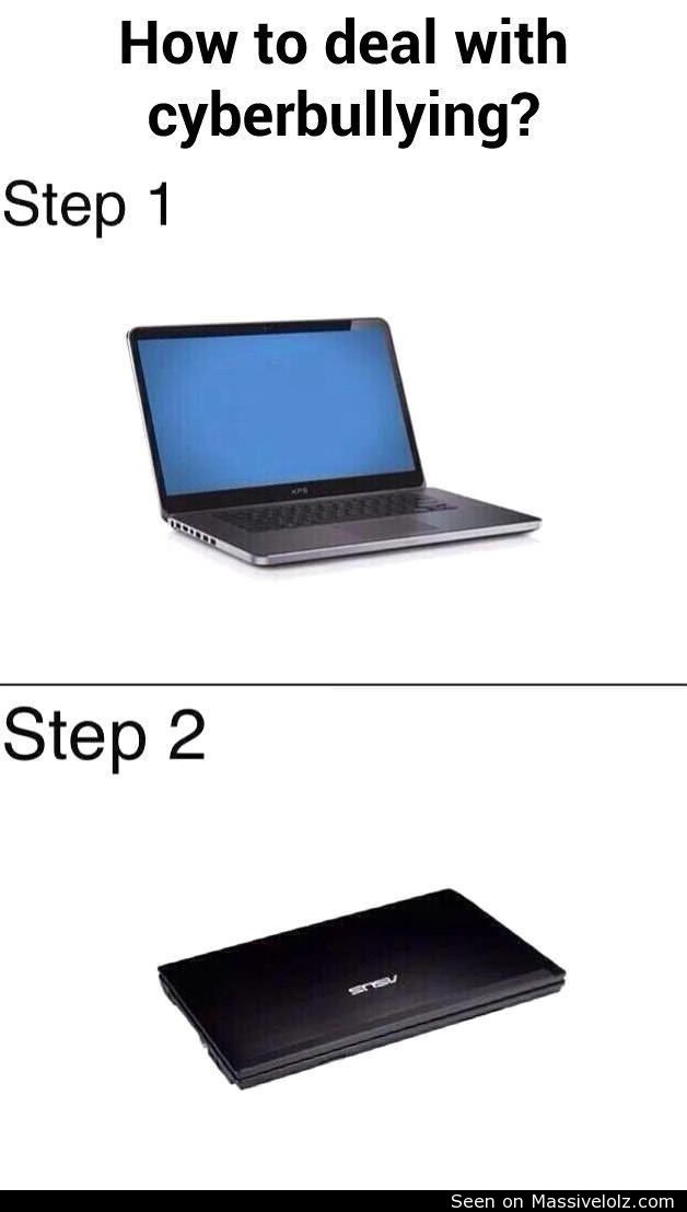 funny image Cyberbullying solution