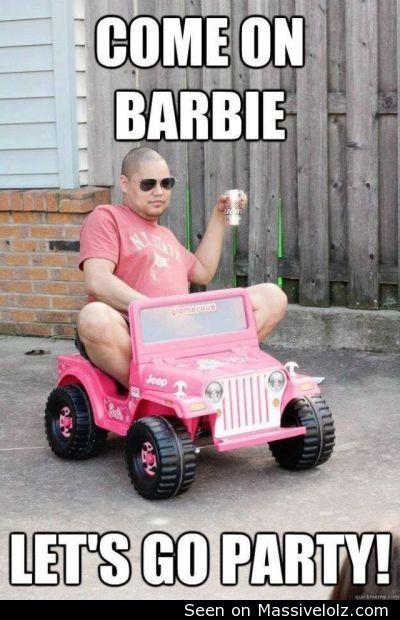 funny image Hey Barbie
