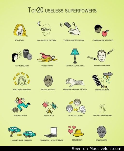 funny image Useless superpowers