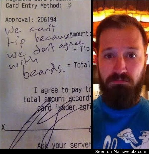 funny image We don't agree with beards
